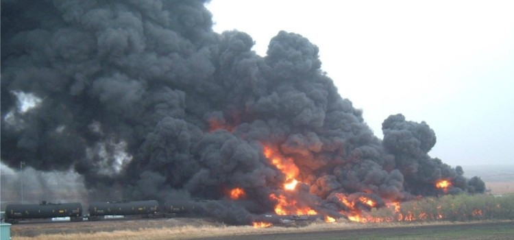 North Dakota Town Evacuated Following Fiery Oil Train Derailment